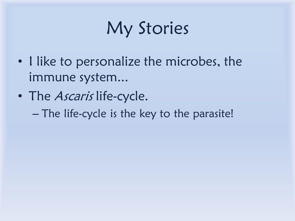 My Stories I like to personalize the microbes, the immune system...