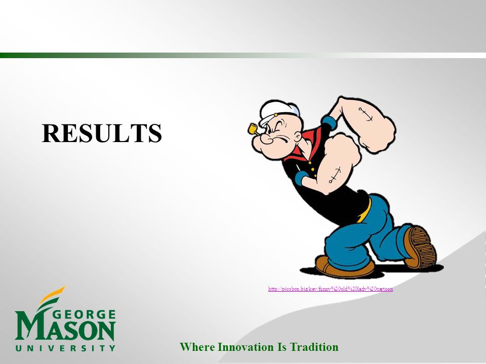 Where Innovation Is Tradition RESULTS