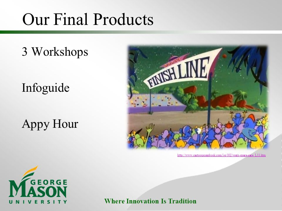 Where Innovation Is Tradition Our Final Products 3 Workshops Infoguide Appy Hour