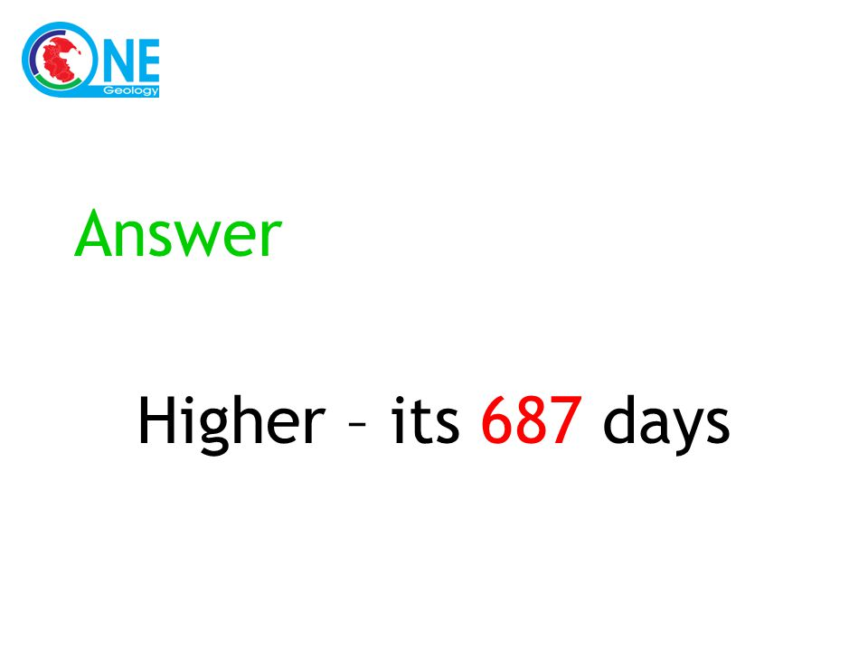 Answer Higher – its 687 days