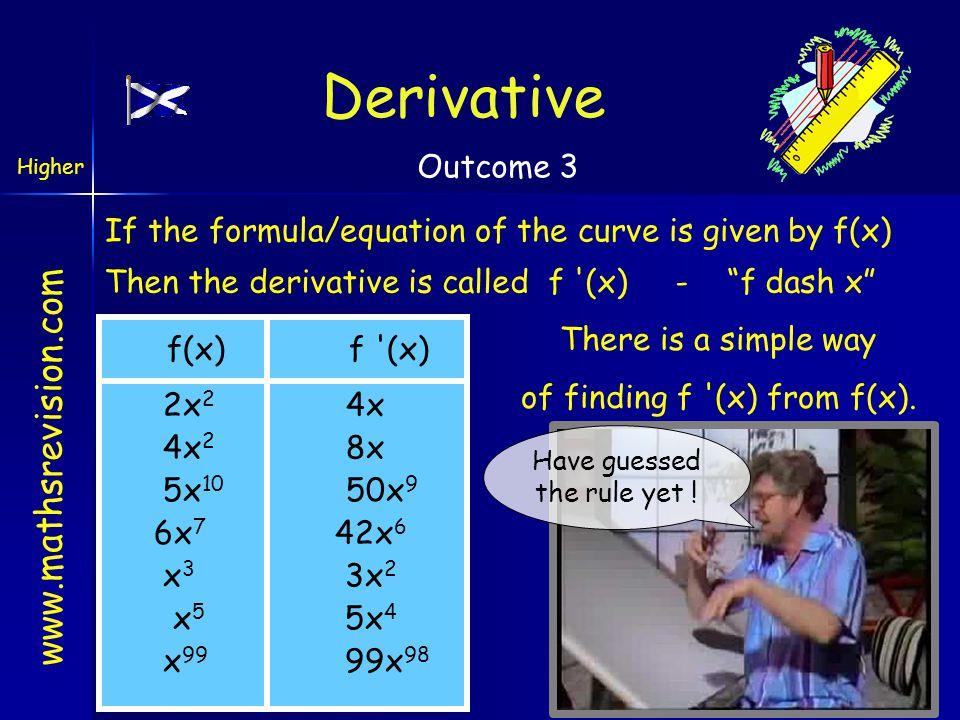 www.mathsrevision.com Example 20 A curve has equation y = 5x 3 - 4x 2 + 7.