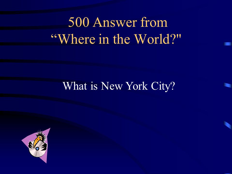 500 Question from Where in the World European Starlings were first introduced in the United States in this city.