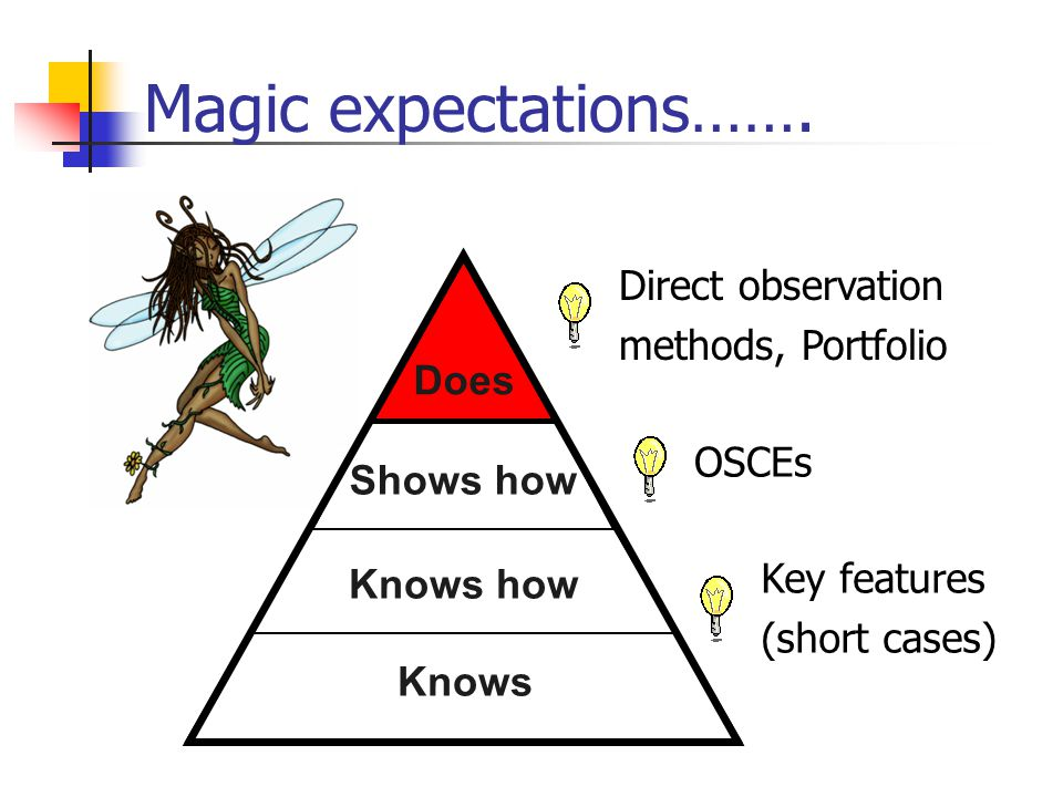 Magic expectations……. Knows Shows how Knows how Does Knows Knows howShows how Does Knows Shows how Does Knows howShows how Key features (short cases)