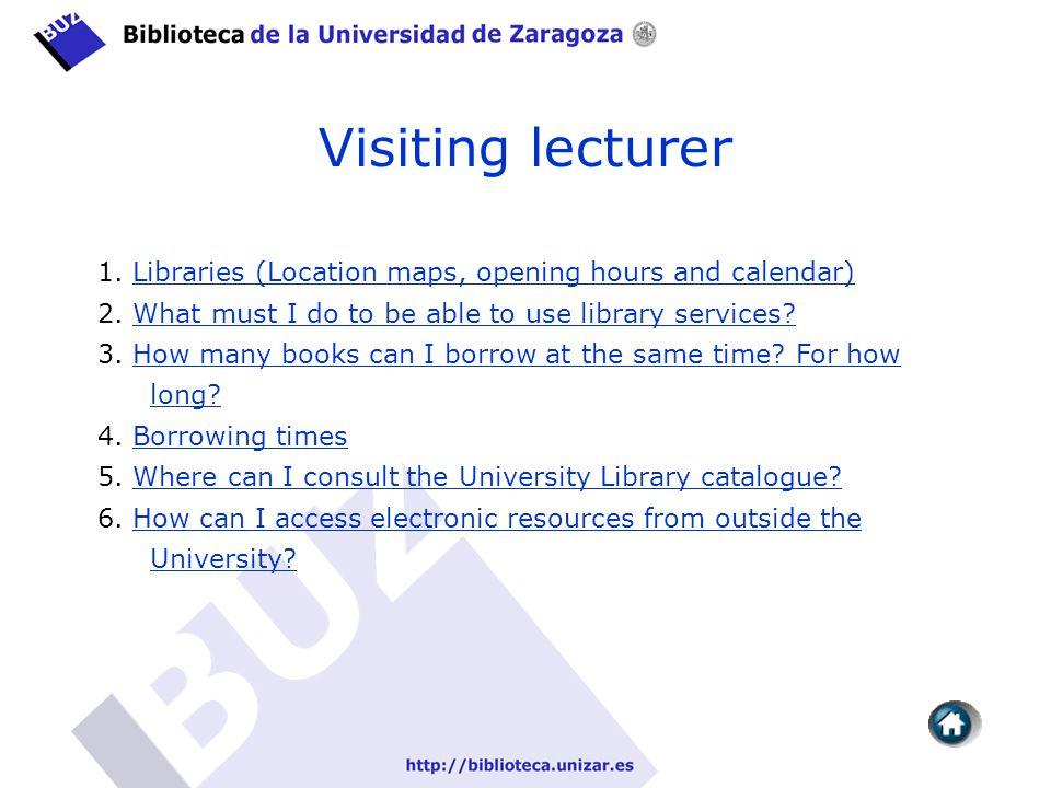 Visiting lecturer 1.