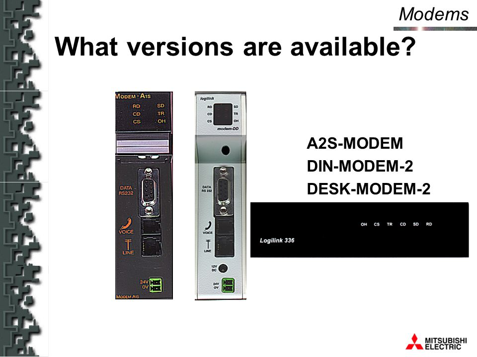 Modems DIN-MODEM-2 DIN-RTU What versions are available A2S-MODEM DIN-MODEM-2 DESK-MODEM-2