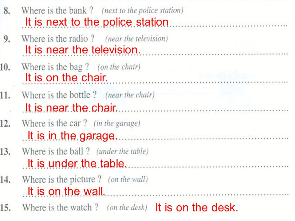 It is next to the police station It is near the television. It is on the chair. It is near the chair. It is in the garage. It is under the table. It i