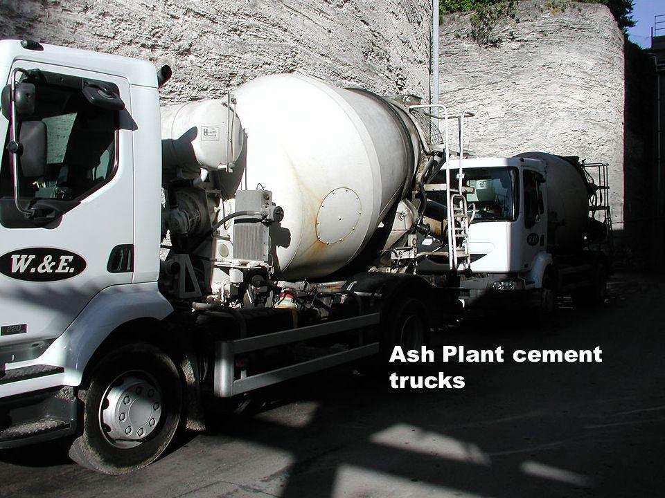 Ash Plant cement trucks