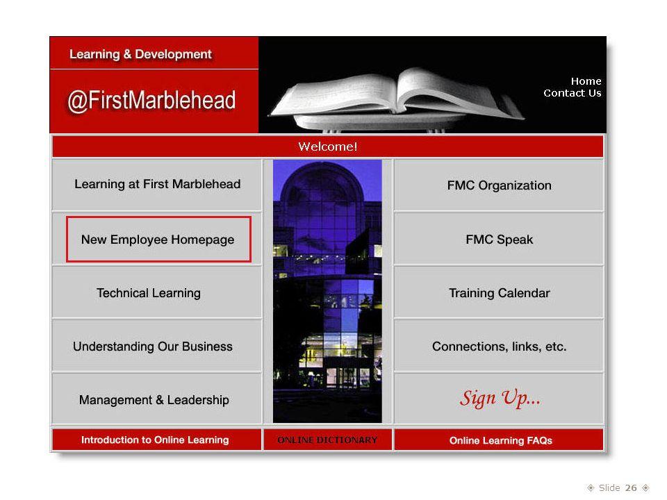  Slide 26  Learning & Development @FirstMarblehead