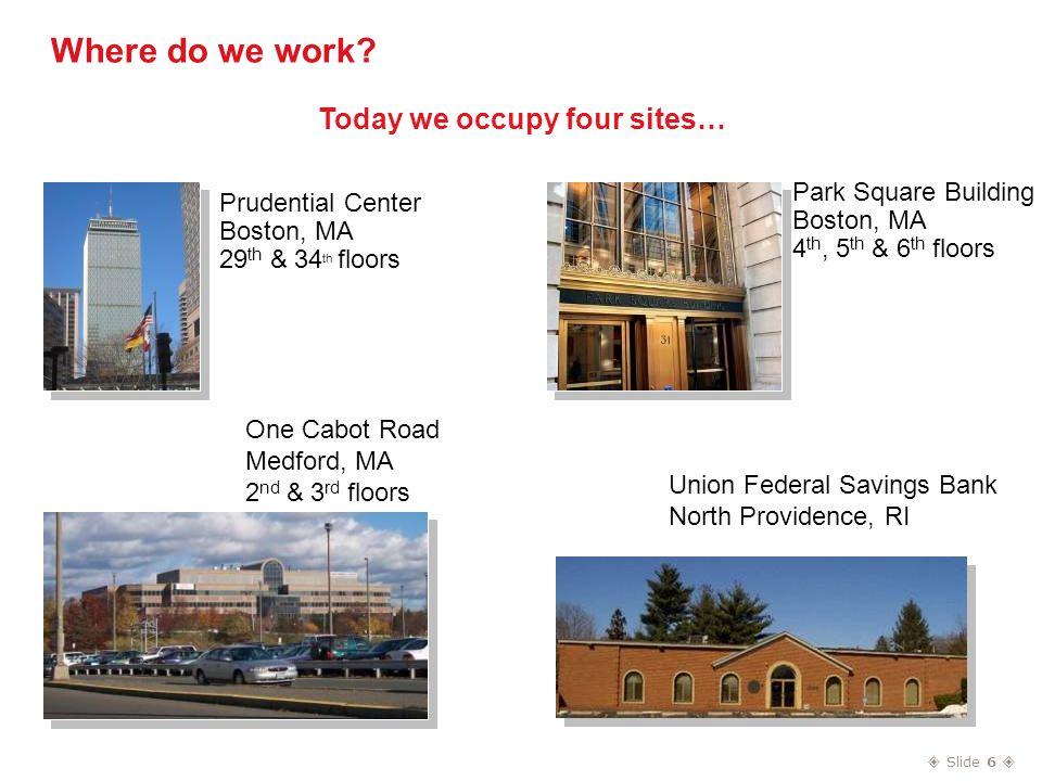  Slide 6  Where do we work.
