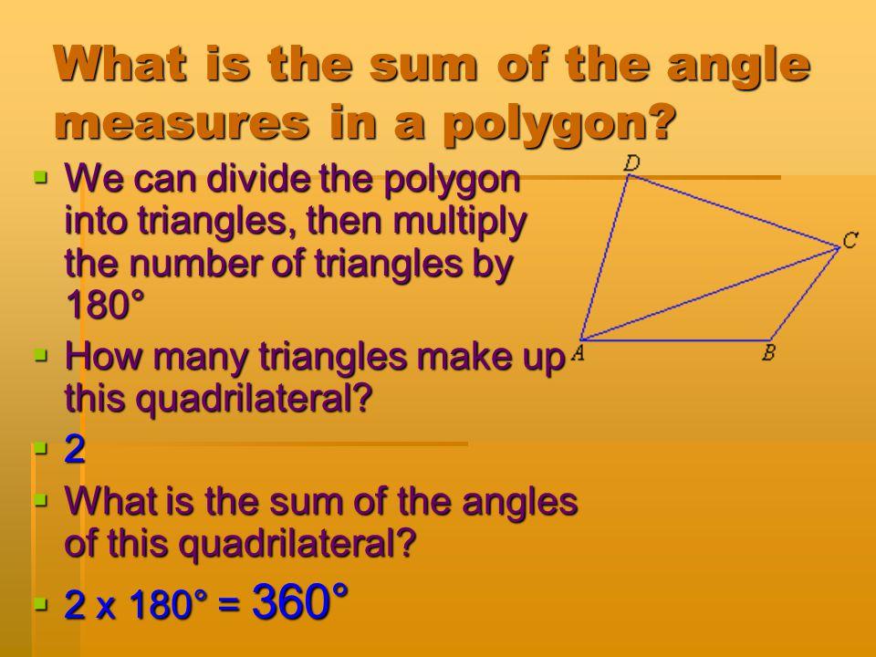 Find x:  3x - 4 + 5x + 10 + 6x + 6 = 180  14x + 12 = 180  -12 -12  14x = 168  x = 12