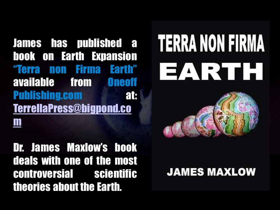 Since his academic studies, James Maxlow has been actively involved with spreading the merits of Earth Expansion, with conferences in Japan, Athens an