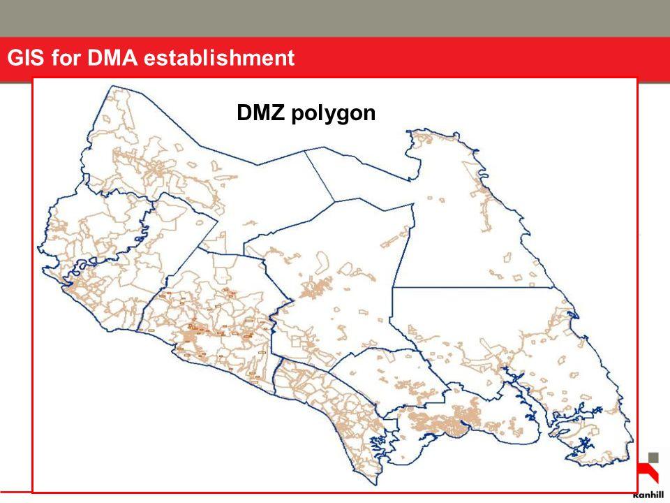 DMZ polygon GIS for DMA establishment