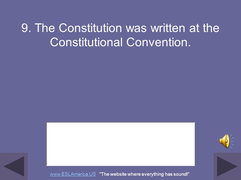 """8. James Madison, Alexander Hamilton, and John Jay were some of the writers of the Federalist Papers. www.ESLAmerica.USwww.ESLAmerica.US """"The website"""