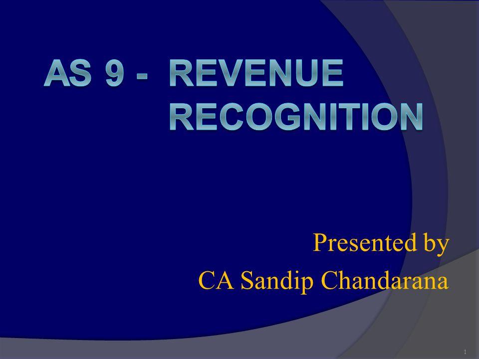 Presented by CA Sandip Chandarana 1
