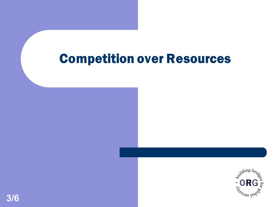Competition over Resources 3/6