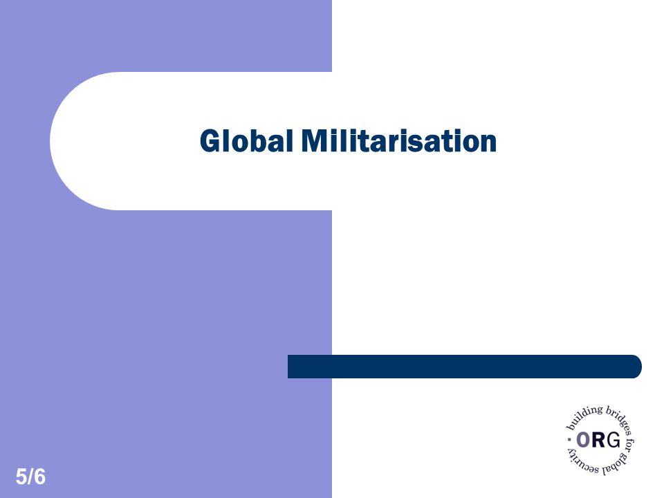 Global Militarisation 5/6