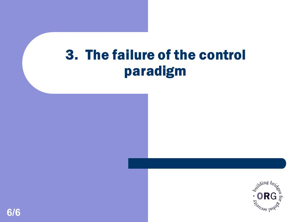 3. The failure of the control paradigm 6/6