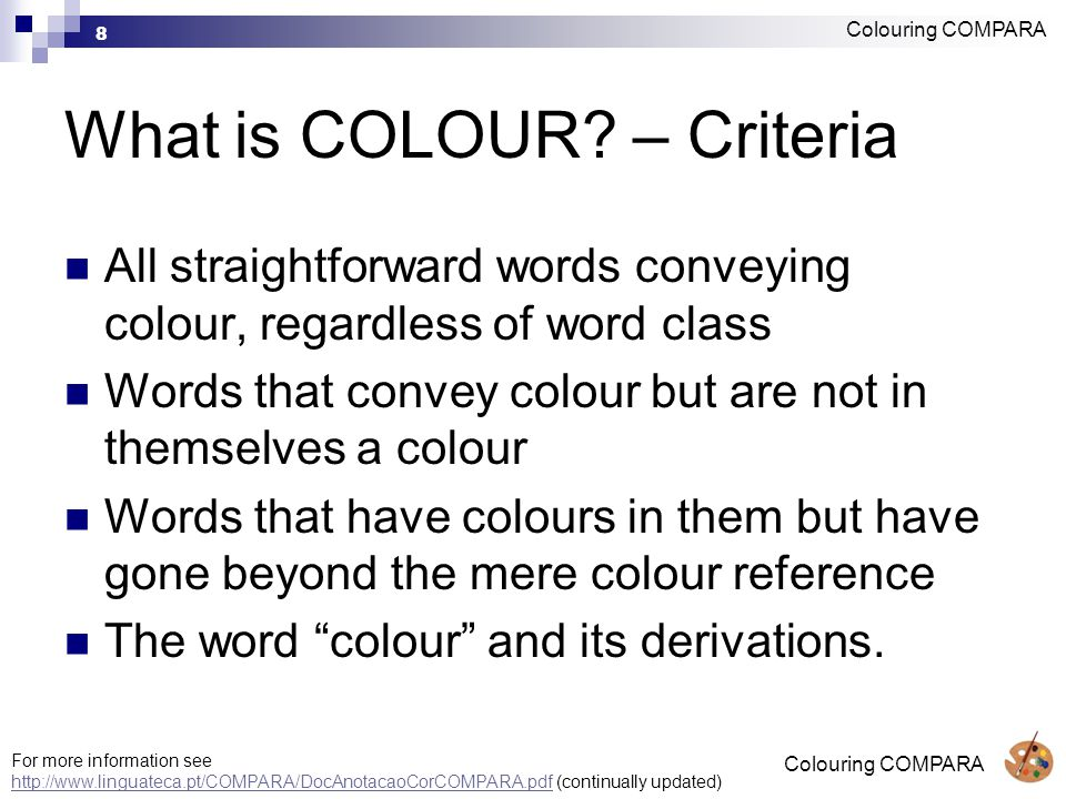 8 What is COLOUR.