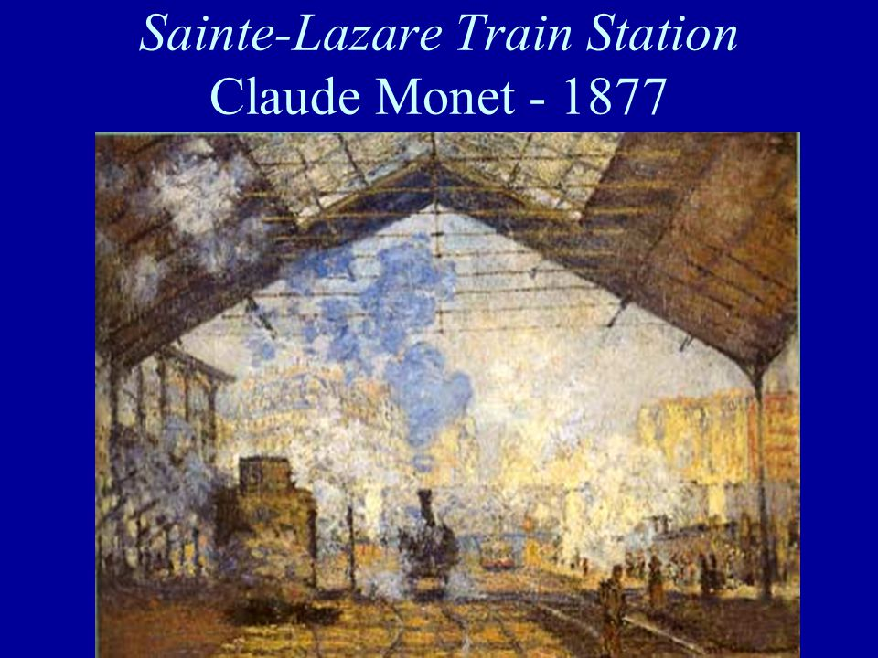 Sainte-Lazare Train Station Claude Monet - 1877