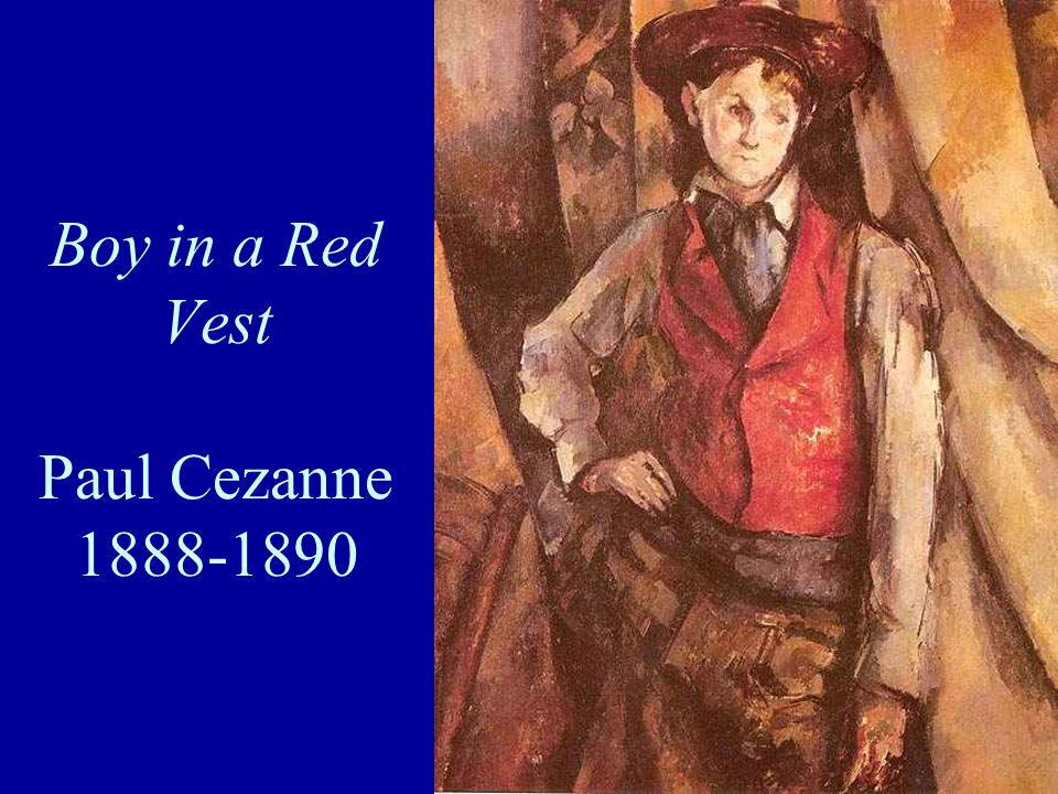 Boy in a Red Vest Paul Cezanne 1888-1890