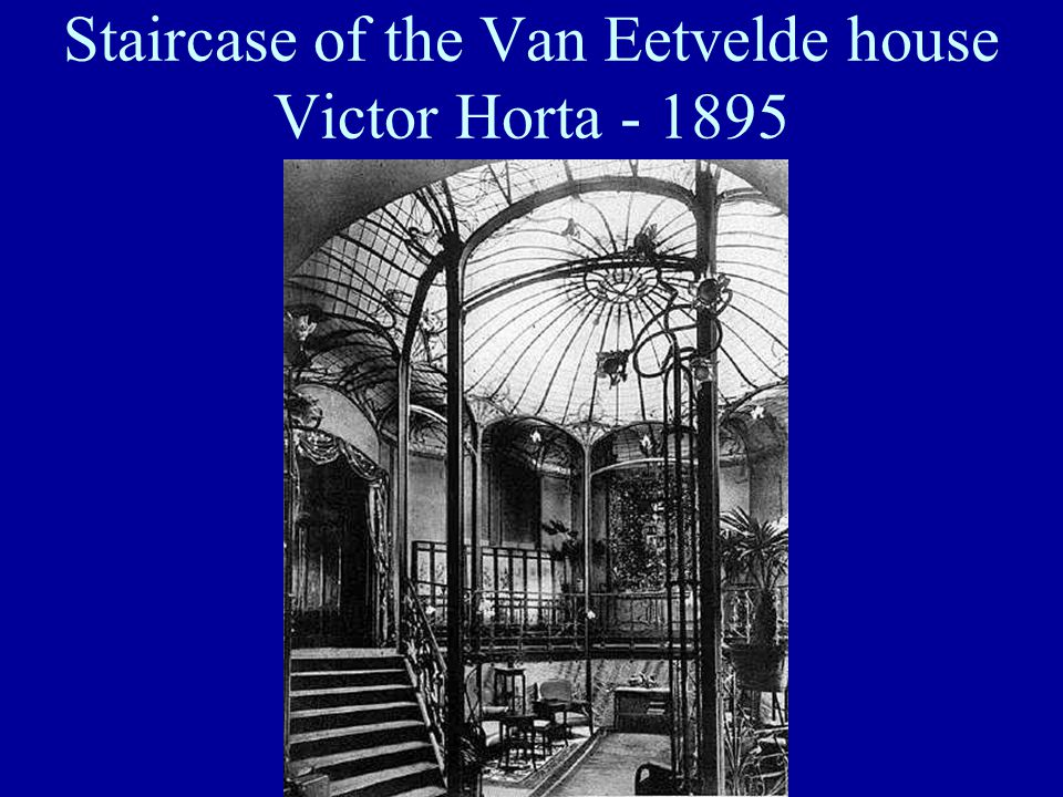 Staircase of the Van Eetvelde house Victor Horta - 1895