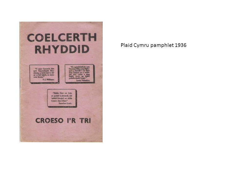 Plaid Cymru pamphlet 1936