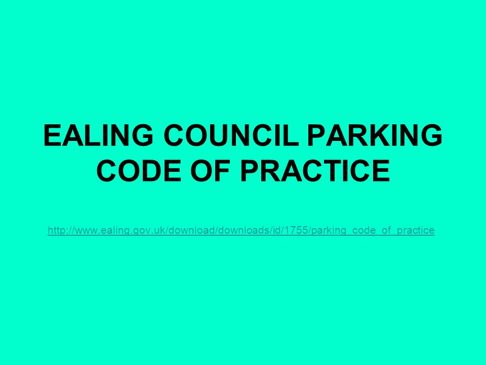 PARKING CODE CONTENTS