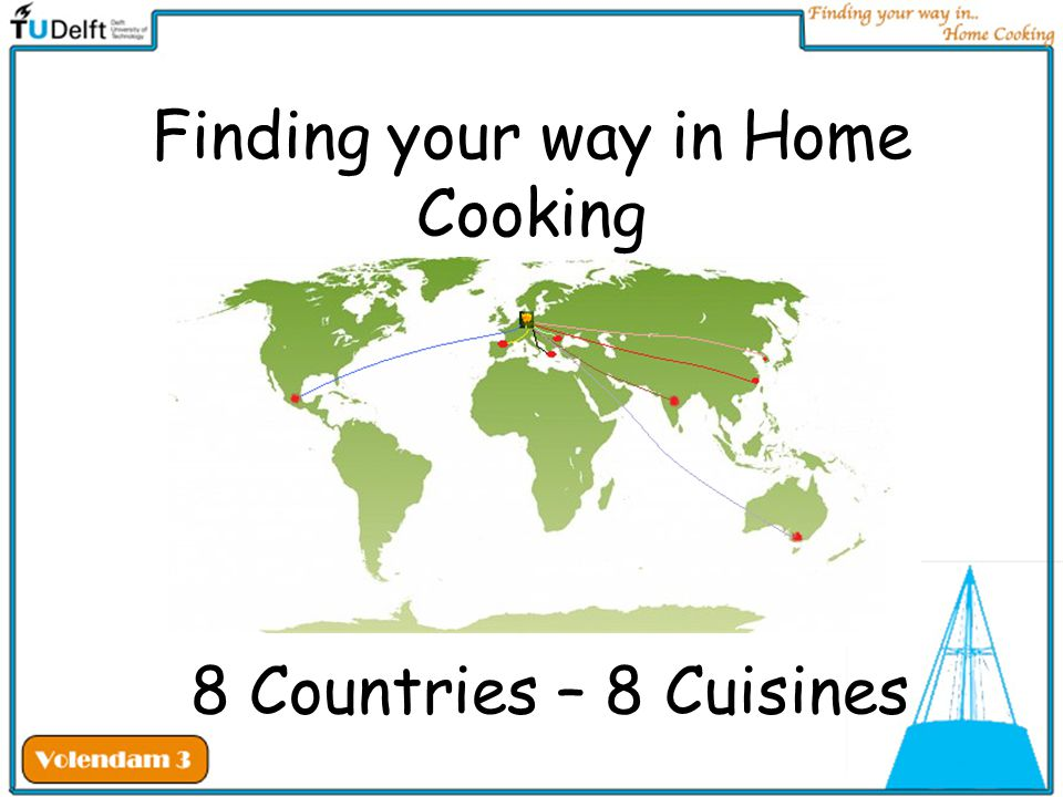 Finding your way in Home Cooking 8 Countries – 8 Cuisines