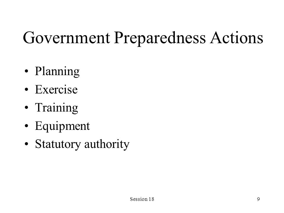 Session 1810 Planning Determines: –Is the event a disaster.