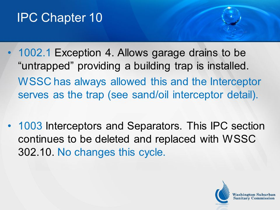 IPC Chapter 10 1002.1 Exception 4.