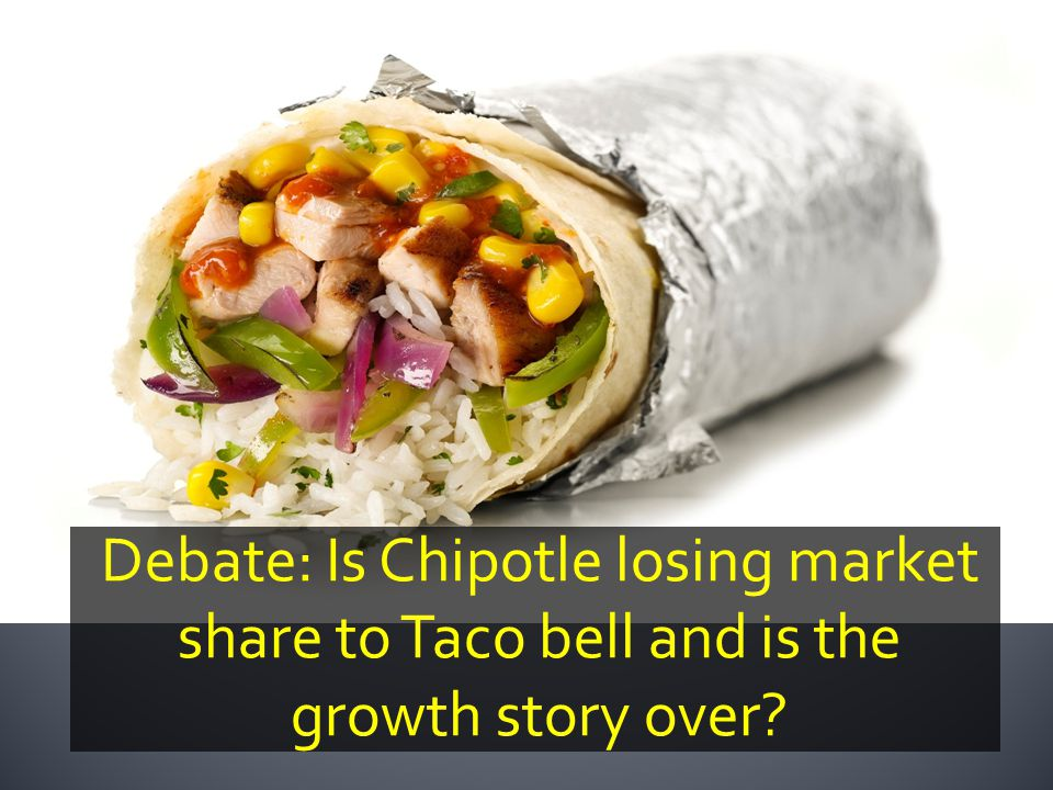 Debate: Is Chipotle losing market share to Taco bell and is the growth story over?