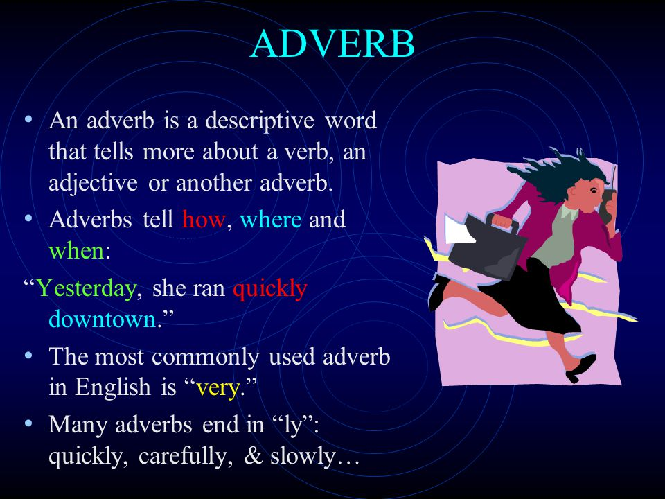 "ADJECTIVE Adjectives are descriptive words used to ""modify"" or tell more about nouns and pronouns… Without colorful and precise adjectives, language w"