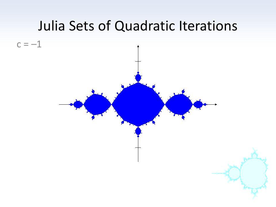 Julia Sets of Quadratic Iterations c = –1