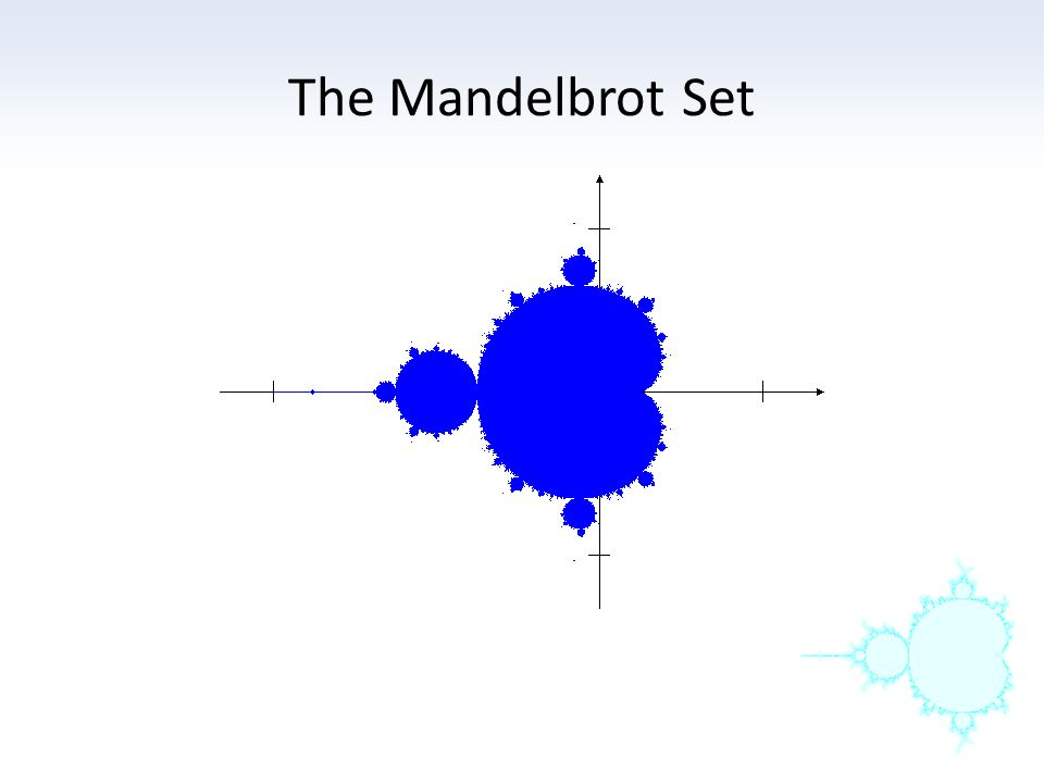 This set has a very intricate geometry and there is a connection between the position on the Mandelbrot set and the shape of the Julia set, as well as the fate of the orbit of 0.