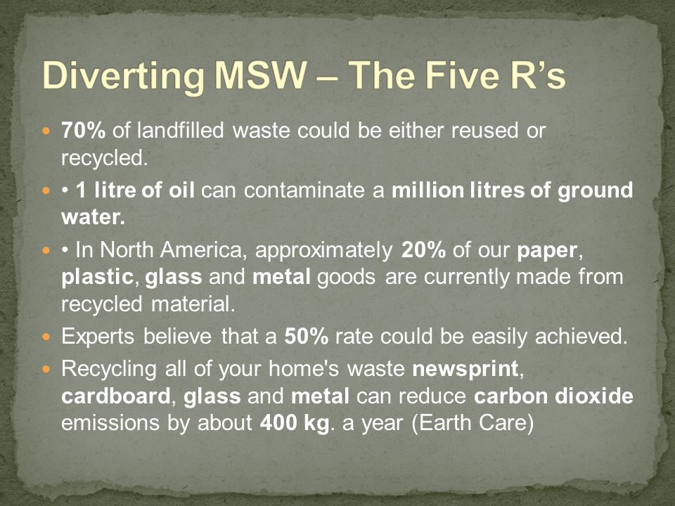 Recycling Glass Quick Facts Recycling one ton of glass saves about 40 litres of fuel oil (Recycling Council of Ontario) Recycling glass saves 33% of the energy required to manufacture it from virgin sources Recycling a glass jar saves enough energy to light a bulb for four hours.