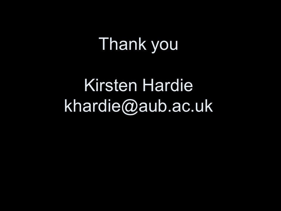 Thank you Kirsten Hardie