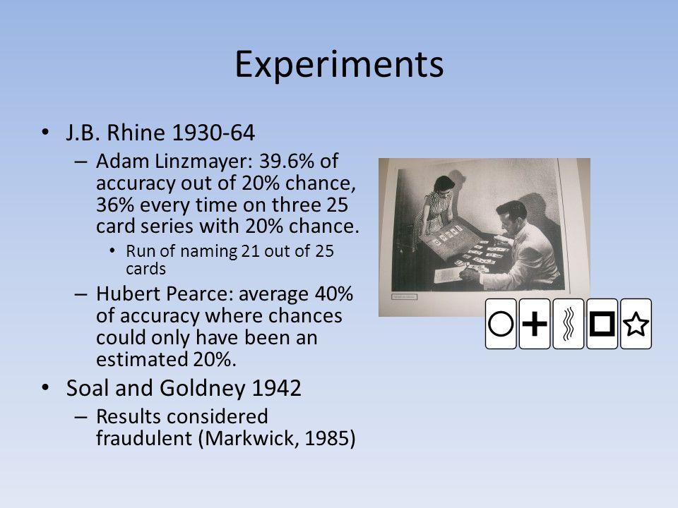 Experiments Cont… Gallup et al.