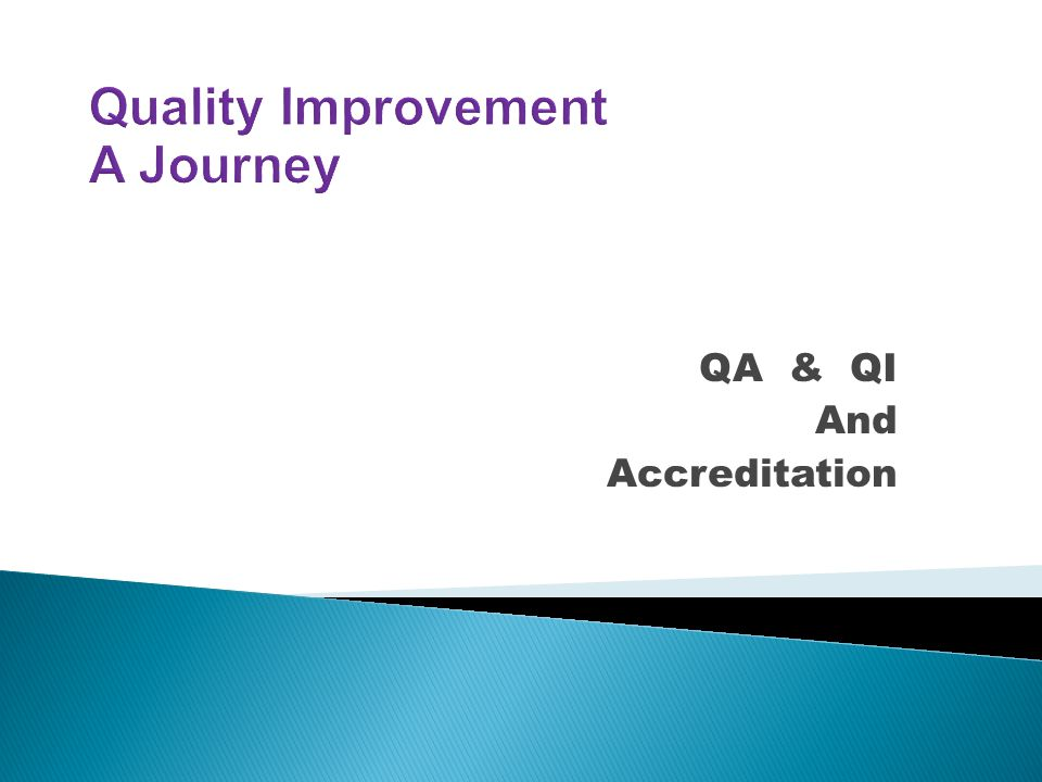 QA & QI And Accreditation