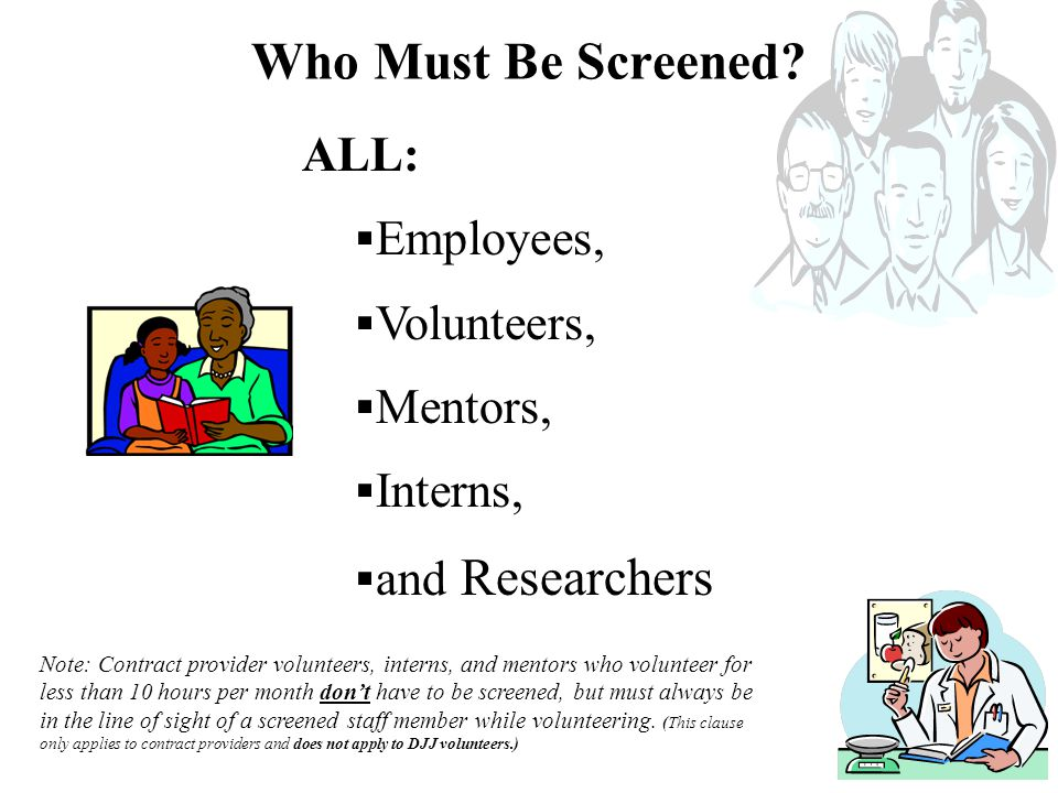  Form IG/BSU-006 must be submitted once a year to attest that all employees and volunteers at your program were screened.