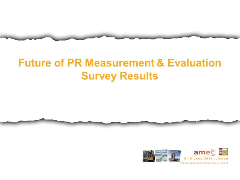 Future of PR Measurement & Evaluation Survey Results