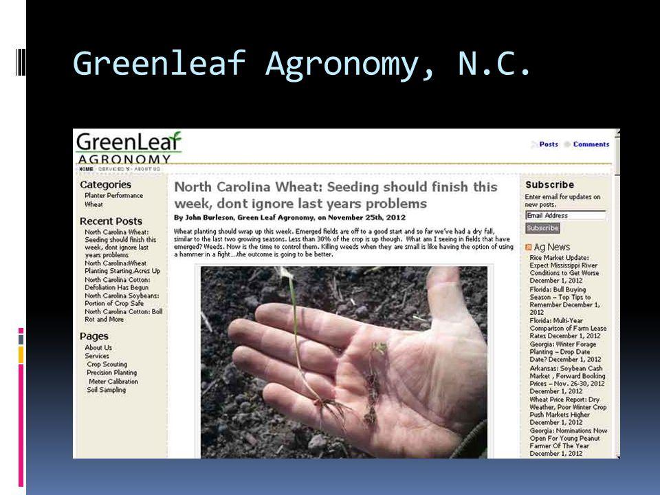 Greenleaf Agronomy, N.C.