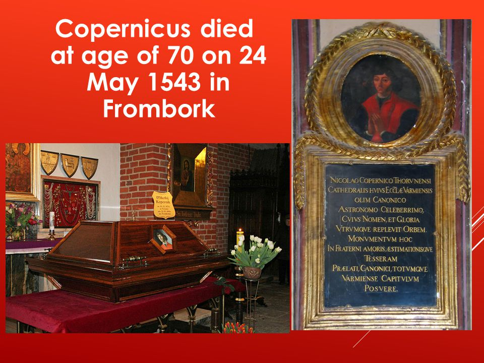 Copernicus' tomb in Frombork Cathedral