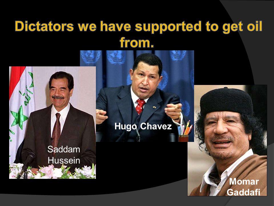 Momar Gaddafi Hugo Chavez Saddam Hussein