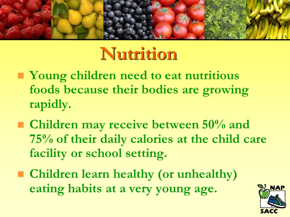 Feeding Practices n Gently encourage, but don't force children to try a bite of a new food.