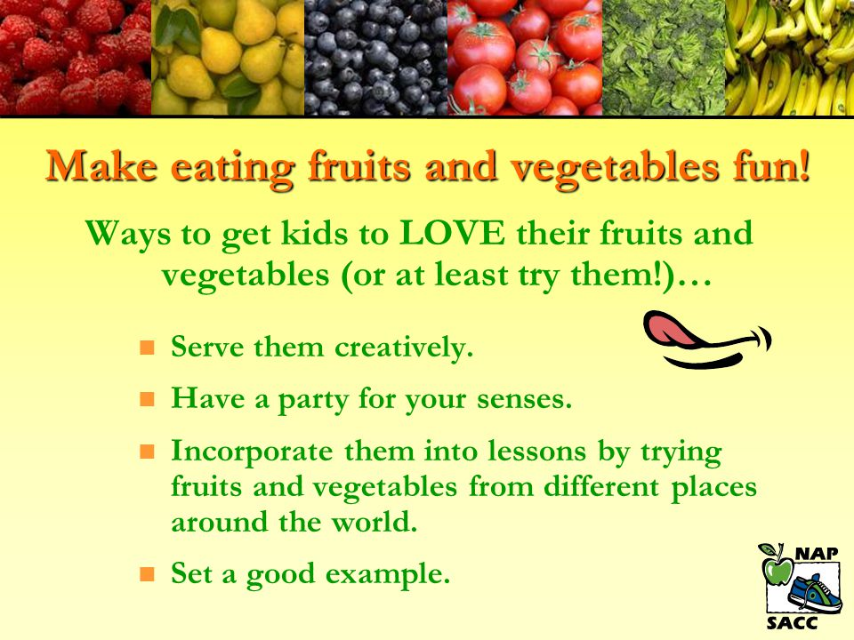 Supporting Healthy Eating n If possible, serve meals family-style where teachers join the children at the table.