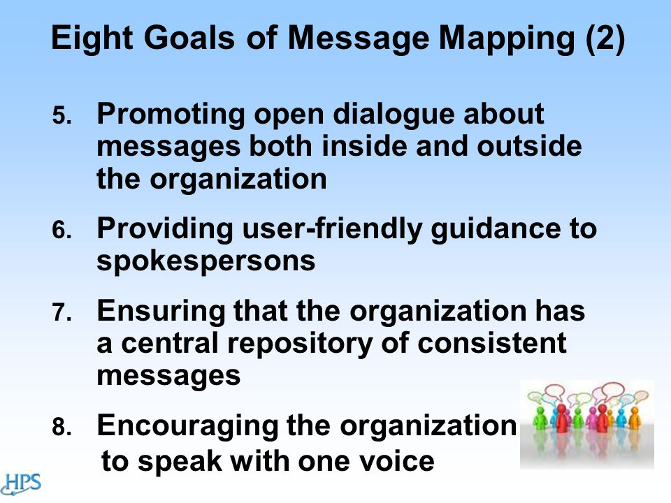 Eight Goals of Message Mapping (2) 5.