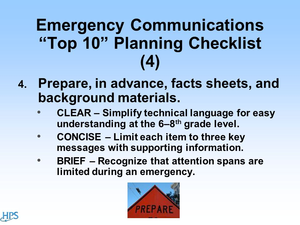 Emergency Communications Top 10 Planning Checklist (4) 4.