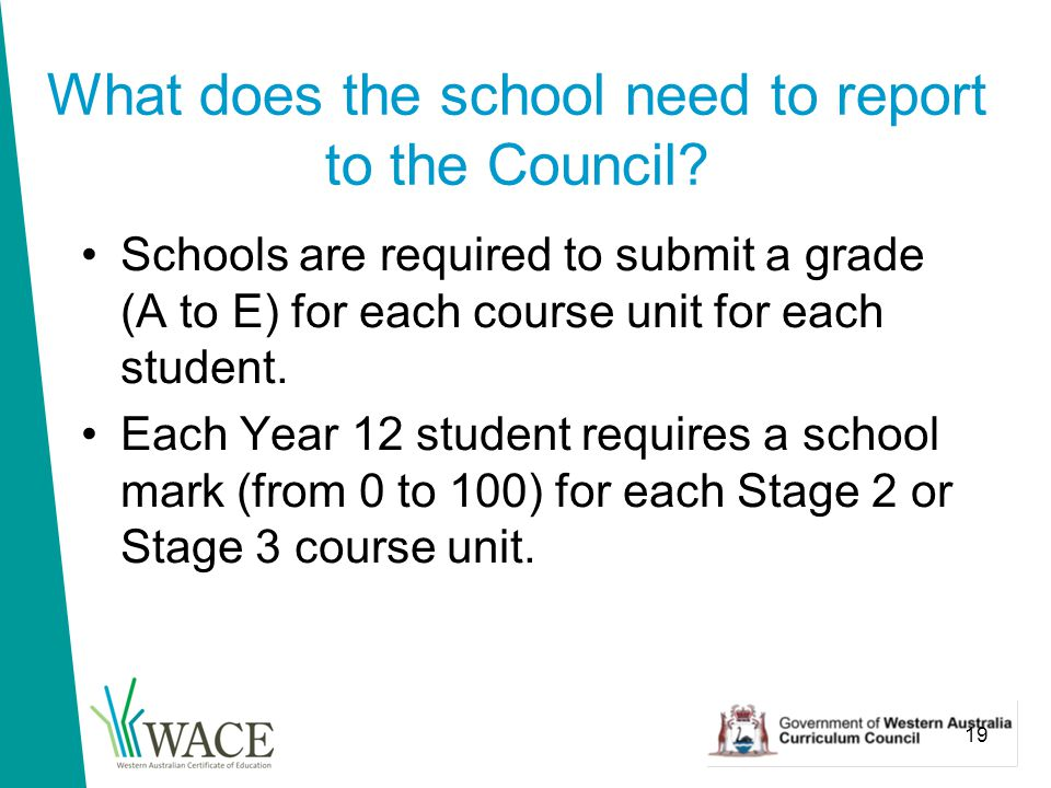 19 What does the school need to report to the Council.