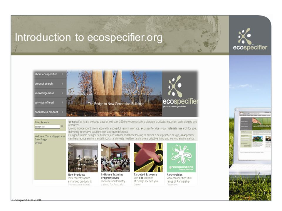 Introduction to ecospecifier.org Ecospecifier © 2008