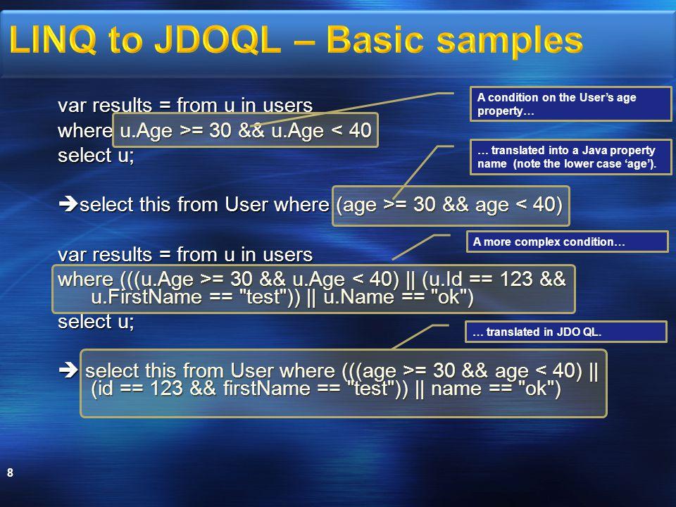 Local mode 29 Xcalia DAS Datastore Service oriented mode Xcalia DAS Datastore Same JVM Web Services